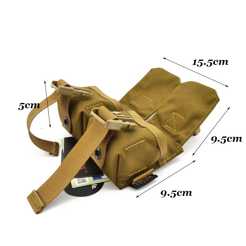 MOLLE Doppel Frag Grenade Pouch CORDURA Modular Kampf Jagd Camping Klettern Taktische Wanderung TW-M010