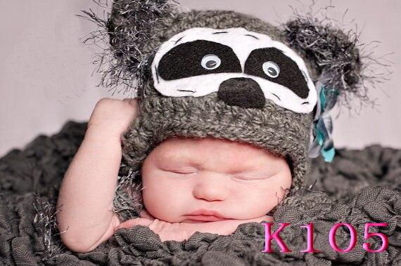 Baby cartoon knit Beanies Lovely infant Panda pattern keep warm Hat Handmade Crochet cap 100% cotton High quality