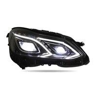 Фары для автомобиля поворотов лампы параметры люксов освещения авто сборки Cob Drl Automovil днем бег светодио дный светодиодные фонари Mercedes Benz E