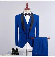 Заказ 2018 новый воротник patched свадебные костюмы для мужчин 3 предмета в комплекте Большие размеры комплект классические мужские 7XL 8XL 9XL 10XL