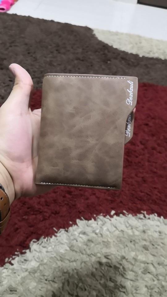 New men short paragraph multi-function wallet bit retro personality documents wallet card purse wallet photo review