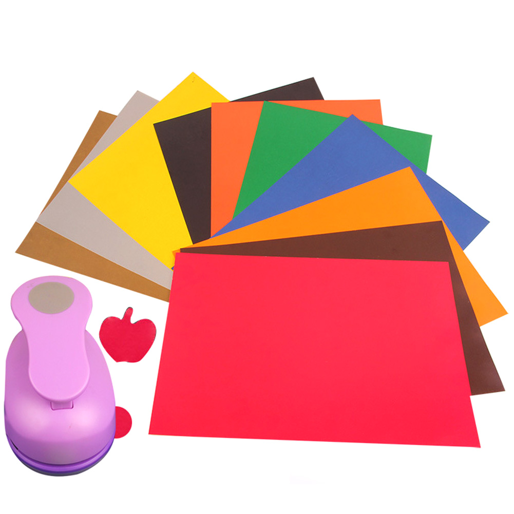 10pcs/set A4 Colorful Stickers Hand Labels Printing Printing Cardboard Embossing Special Paper School Escolar Papelaria colorful white ribbons bow laser cut wedding invitations set blank paper insert romantic printing invitation cards kit