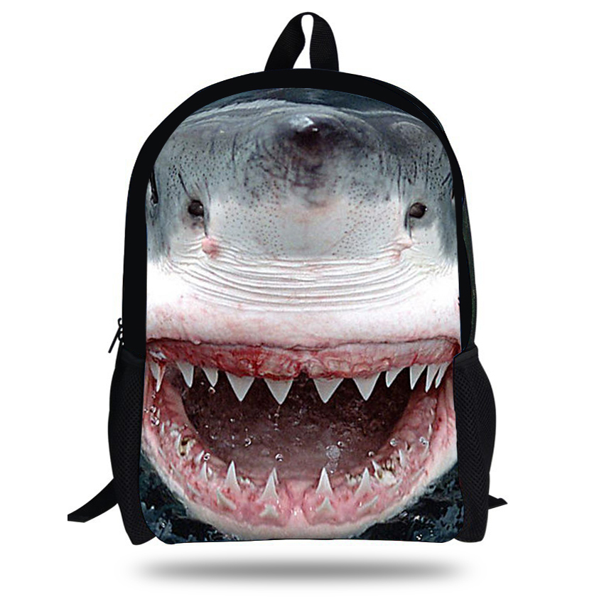 9cb57dcd44b6 16-inch Animal Bag Shark Backpack Animal Prints Cool Boys Backpacks For  School Casual Children School Bags Mochila Infantil