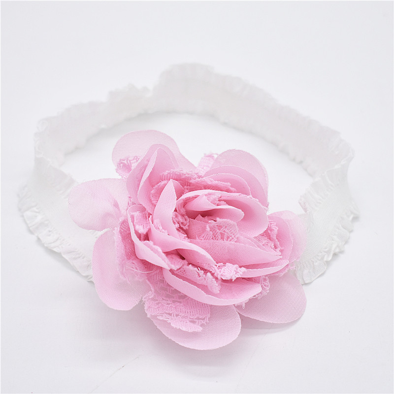 Baby Star Opaski Sliver Pink White Menina Kwiaty Hairbands Dzieci - Odzież dla niemowląt - Zdjęcie 4