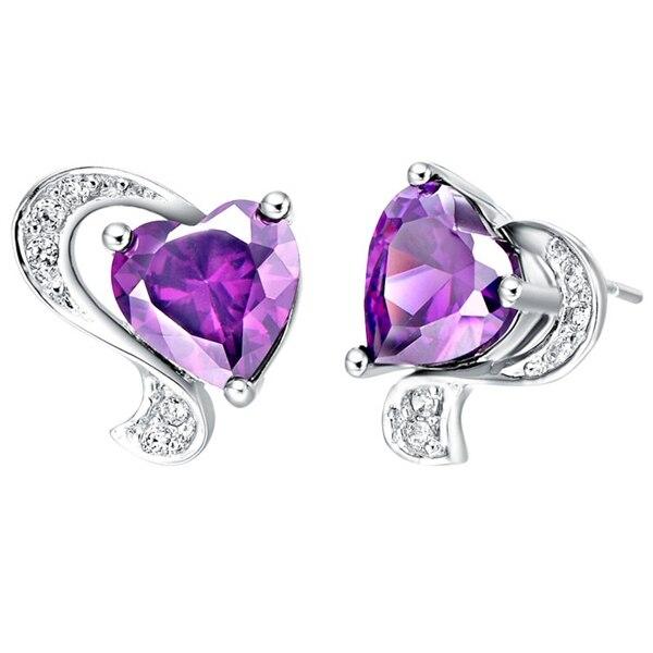 Crystal Earring Heart Fox Shape Outstanding Stud Earrings Jewelery Women Wedding New Simulated Zircon Jewelry Ulove R166