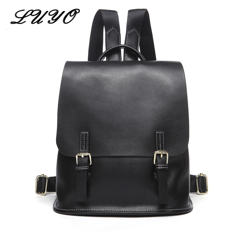 HOT SALE Genuine Cow Leather Female Backpack Mochila Rugzak Small Backpacks For Girls Teenagers Rivet Women School Bags Bagpack hot sale women s backpack the oil wax of cowhide leather backpack women casual gentlewoman small bags genuine leather school bag