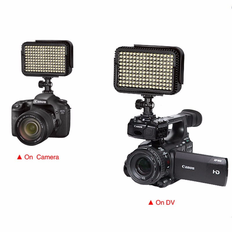 NanGuang CN-LUX1600C 220V 3200K/5600K Mini LED Video Light Annular Lamp For Canon Nikon Sony Camcorder DV DSLR Camera
