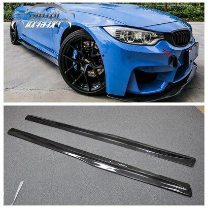 PSM Style Voiture Style Top Qualité F80 F82 F83 fiber de carbone Étendre Côté Jupes M3 M4 bodykit pour BMW côté entouré accessoires