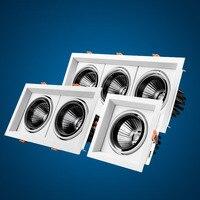 Downlight led cob teto 10 w 20 w 30 praça regulável led girando 110/220 v quente/branco superfície montado iluminação interior