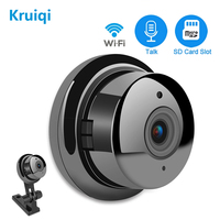Kruiqi Panoramic Wifi IP Camera 960P Super Wide Angle Wireless Surveillance Camera with IR Night Vision and Motion Detection
