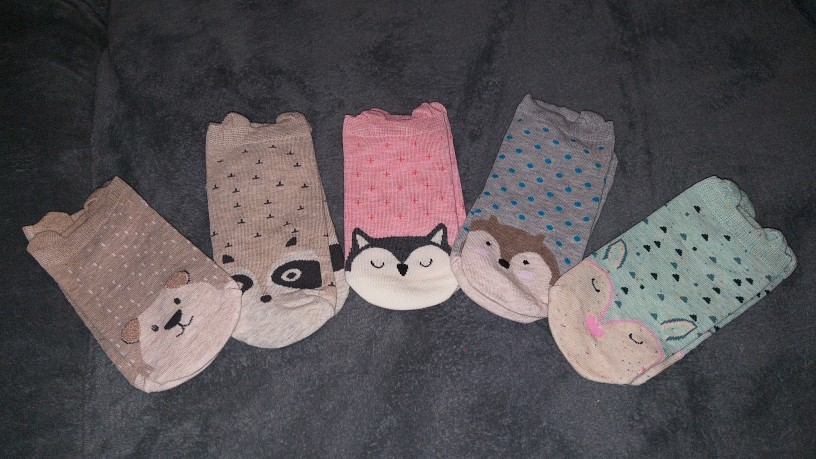 носок для женщин; Каваи; ткань;