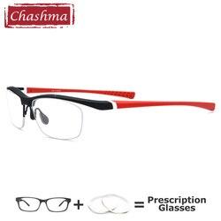 Спортивные очки мужские TR90 полу очки с оправой для мужские Оптические очки оправа высокое качество рецептурные линзы фото хромовая