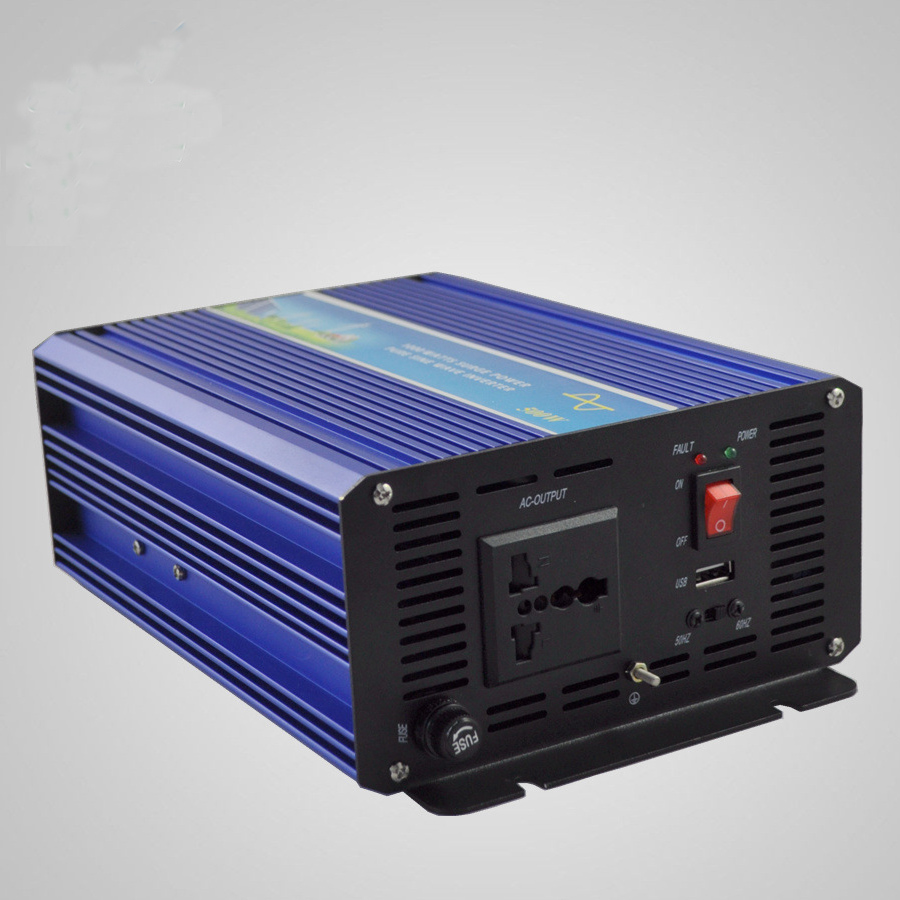 1500W Off Grid Inverter 12V 24VDC to 110V 220VAC Pure Sine Wave Single Phase Solar or Wind Power Inverter Surge Power 3000W in Solar Inverters from Home Improvement