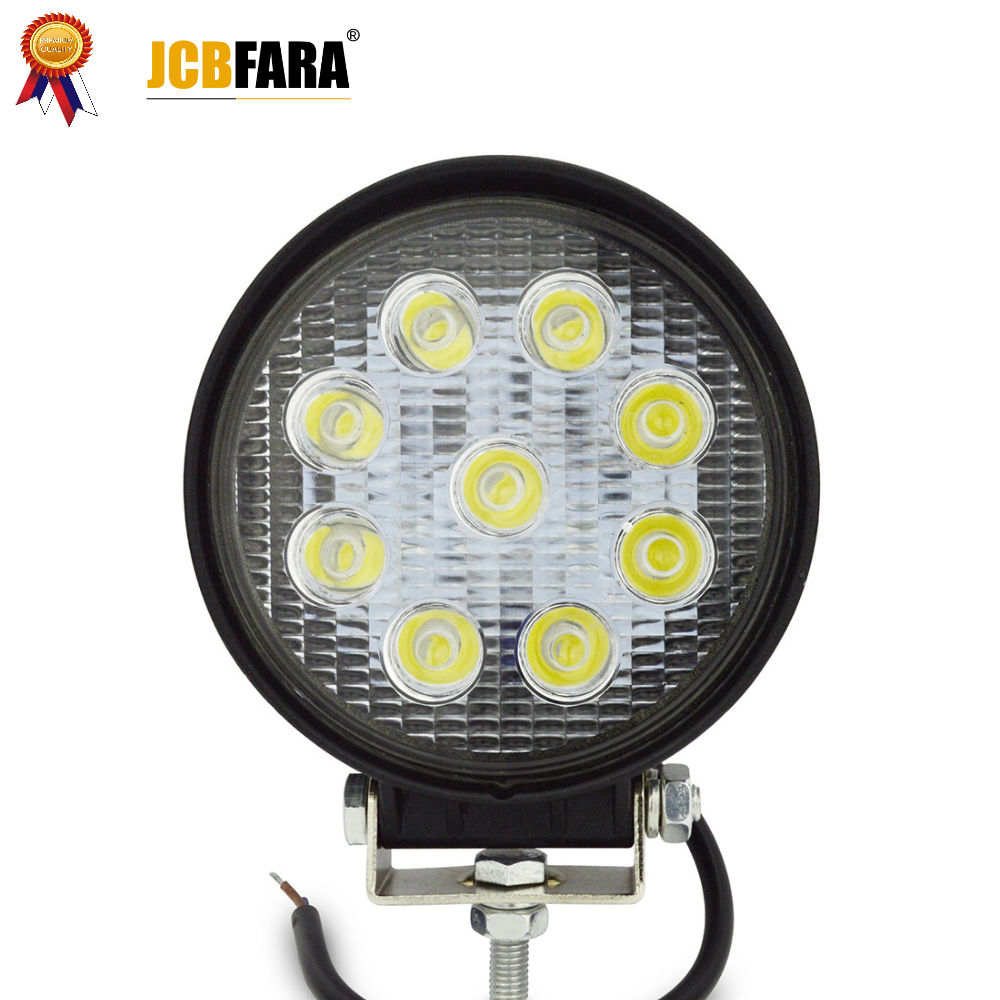 27W LED Work Light 12V IP67 Spot Flood Fog Light Off Road ATV Tractor Train Bus