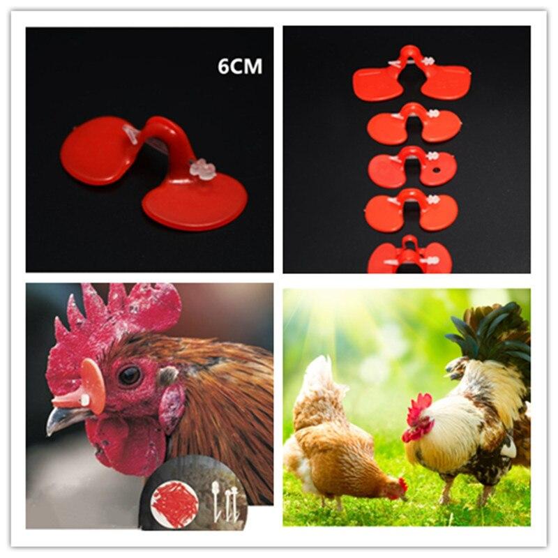 Red Chicken Eyes Peeper Glasses Avoid Chicken Pecking Farm Plastic pack of 50