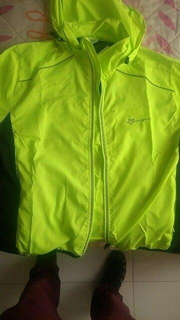 ROCKBROS Светоотражающие дышащий велосипед Велосипедный Спорт Велоспорт цикл с длинным рукавом Ветровка Windcoat ветрозащитный быстросохнущая Джерси куртка