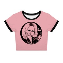 YX Girl 2019 Summer Women  Terrorist doll chucky 3D print Slim Short Sleeve O-neck Tees for 3d PrintTshirt Streetwear