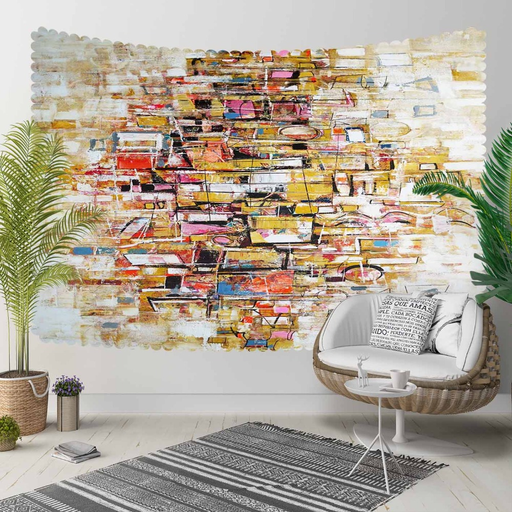 Else Abstract Colored Wall Cubes Boxes Nordec Modern 3D Print Decorative Hippi Bohemian Wall Hanging Landscape Tapestry Wall Art
