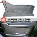 Накладка на переднее сиденье для Lada Largus 2012-2018 пластик ABS рельефный интерьер автомобиля Стайлинг Аксессуары Украшение чехлы на переднее сиде...
