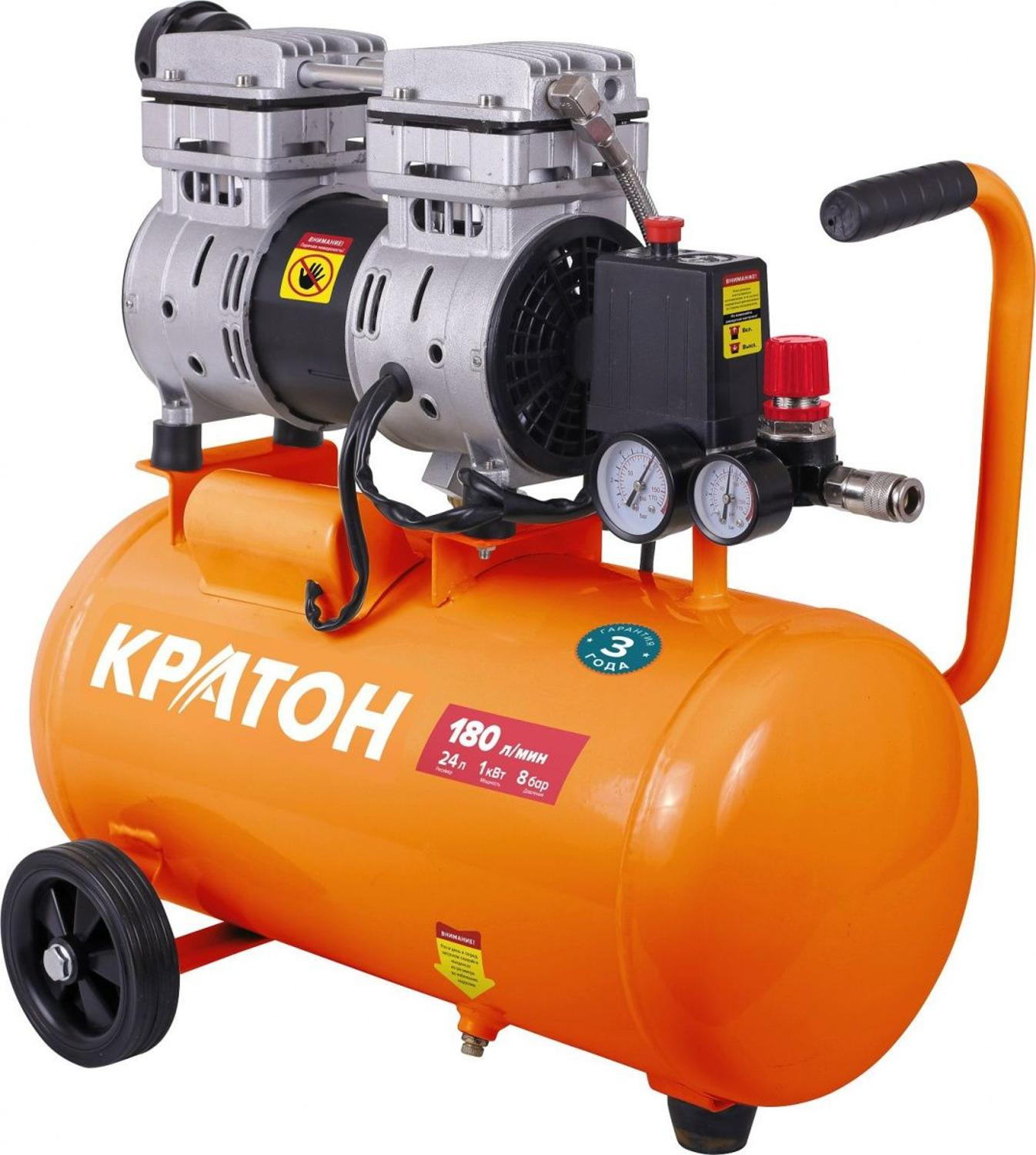 Compressor KRATON with direct transmission oil-free AC-180-24-OFS compressor kraton with direct transmission ac 350 50 ddv