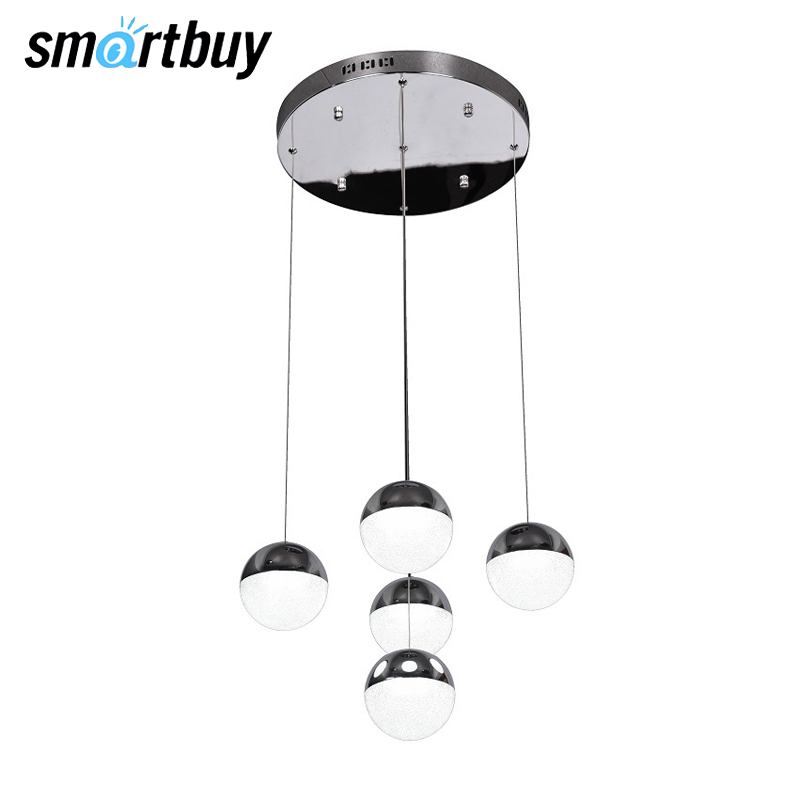 цена на Chandelier SmartBuy 6005-35W-4000K, LED light, pendant light, Chrome, SBL-PL-35W-6005-4K