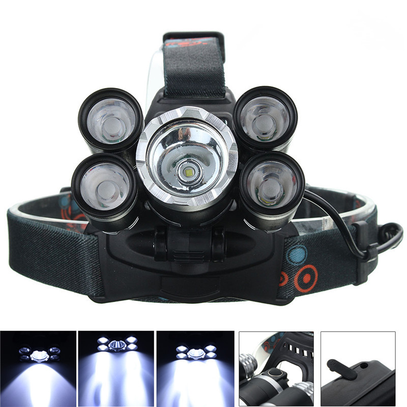 Waterproof Rechargeable XM-L T6 XPE 50000 Lumen 4 Mode Bicycle LED Headlight Headlamp Torch Lamp Lights for Outdoor Camping 3800 lumens cree xm l t6 5 modes led tactical flashlight torch waterproof lamp torch hunting flash light lantern for camping z93