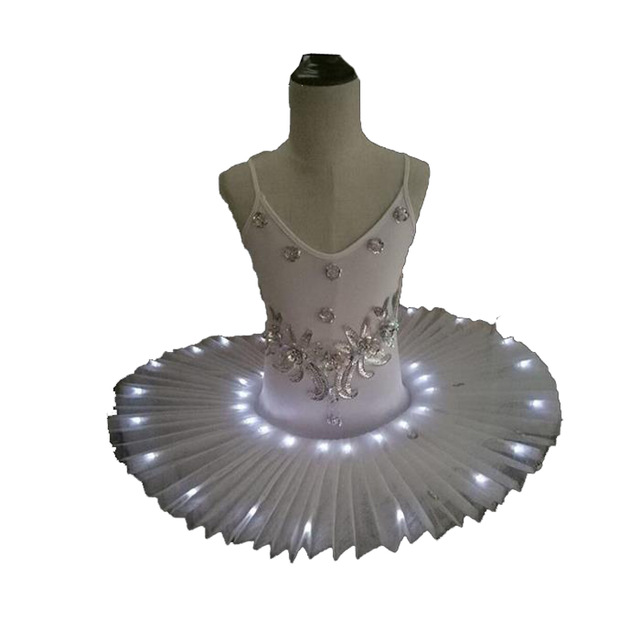 Image 2 - Women's Professional Ballet Skirt Kids' Swan Ballet LED Illuminate Tutu Dress 4colors 90 170cm Girl Hot drilling tutu skirt-in Ballet from Novelty & Special Use