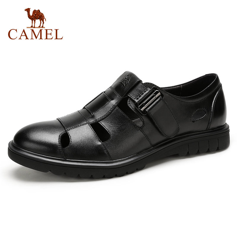 CAMEL Summer Retro Men Business Casual Sandals Genuine Leather Breathable Comfortable Fashion Men s Dad Shoes