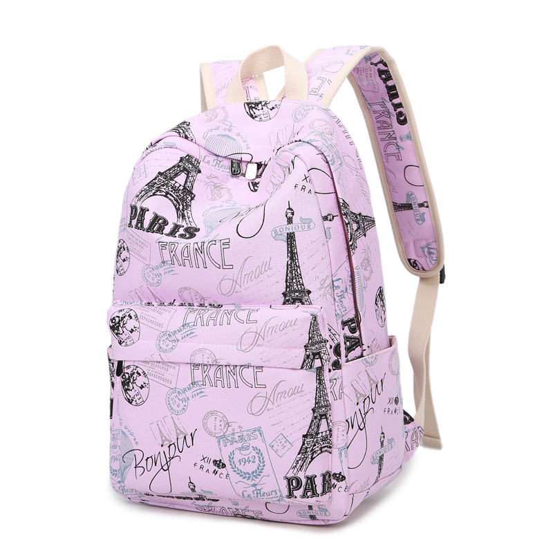 Mini Size Print Women Backpack Korean Preppy Teenager Girl School Bag Casual Ladies Travel Daily Bags Laptop Bag Packs #2