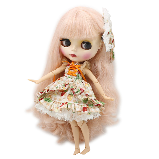 factory blyth doll BL2352 light pink wavy hair joint body 1/6 30cm bjd special price