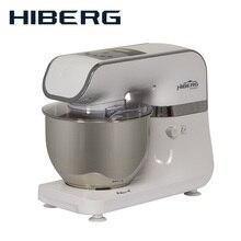 Планетарный миксер  HIBERG MP 1040 DW, 4 литра чаша из нержавеющей стали, 6 режимов, мощность 1000 Вт,венчик из нержавеющей стали; крюк для замешивания теста, лопатка для перемешивания