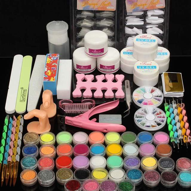 Pro Nail Tools Set For Manicure UV Gel Nail Lamp For Pedicure ...
