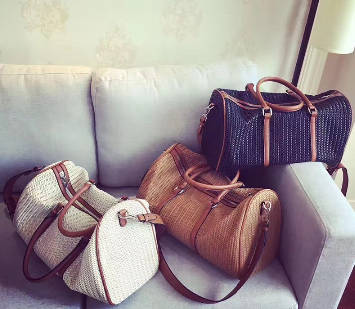 Kanye west woven große reisetasche gestrickte leder handtasche gepäck taschen kommerziellen reise duffle handgemachte luxus-in Reisetaschen aus Gepäck & Taschen bei  Gruppe 1