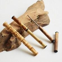 Бамбуковый нож для чая из нержавеющей стали Pu Er, Специальная игла для чая, аксессуары для чая, китайские чайные наборы кунг-фу, спираль