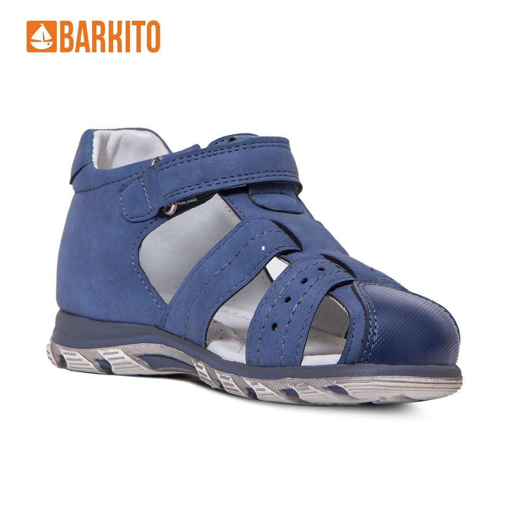 Sandals Barkito 340120 Anklets children shoes Blue Boys 25 Leather men casual shoes breathable leather slippers sandals