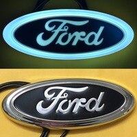 1Pcs 4D LED Car Tail Logo White Light For Ford Focus Mondeo Kuga Auto Badge Light
