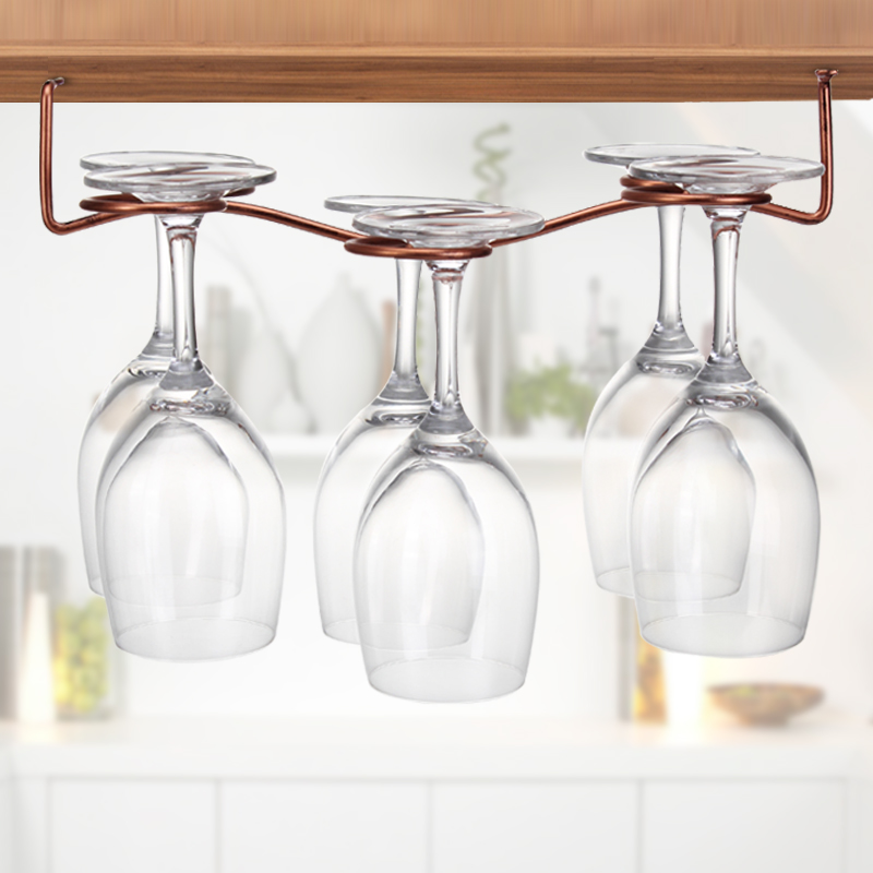 1pc 6 8 red brownze wine glass holder glass rack stemware hanging under cabinet holder hanger. Black Bedroom Furniture Sets. Home Design Ideas