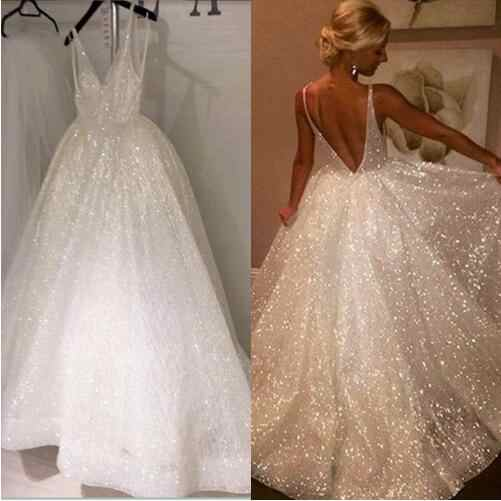 902994b4 ... Beauty-Emily European Sparkly Sequins Wedding Dress 2019 Charming  Spaghetti Strap Backless Formal bridal Gowns ...