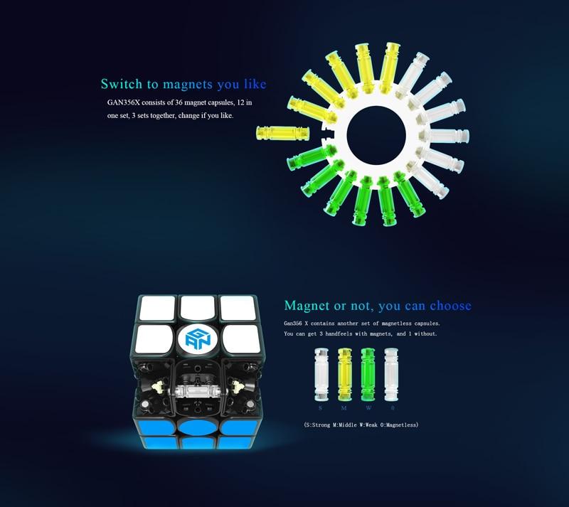 Gan356 X 3x3 Numberical IPG V5 Black Stickerless Cubo Magico Speedcube Educational Toy Gan 356X 356