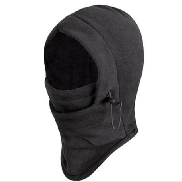 Утепленная Флисовая Балаклава шляпа с капюшоном шеи Теплая зимняя спортивная маска для лица для мужчин лыжный мотоциклетный шлем шапочки маска