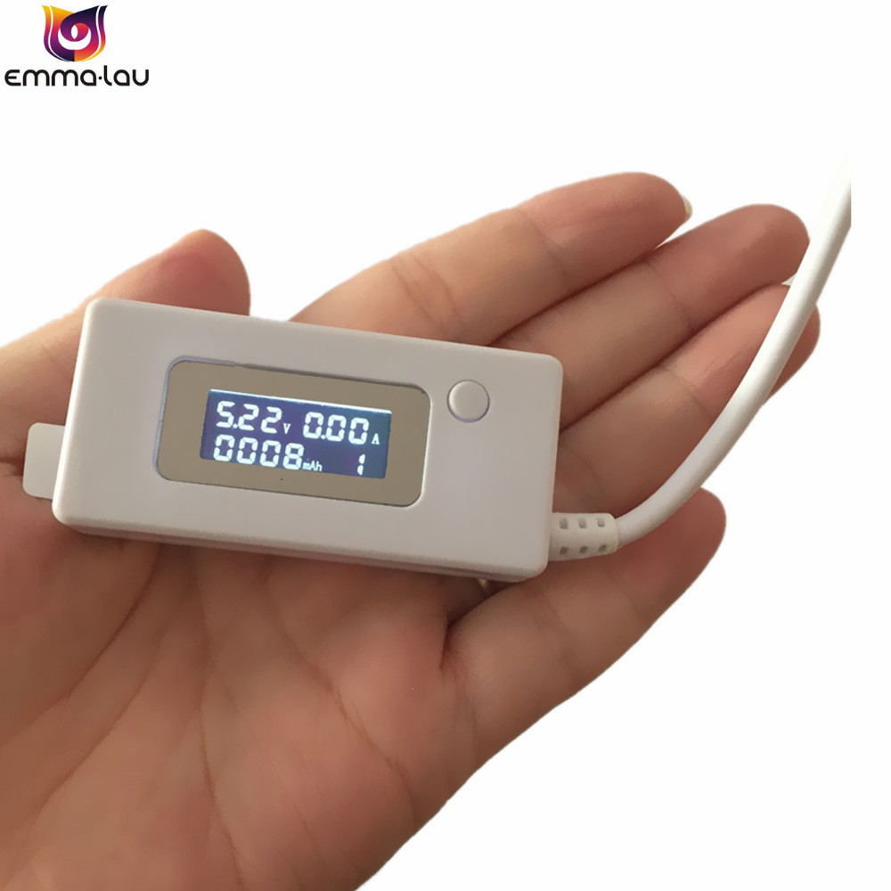 LCD Micro USB Battery Capacity Detector DC 3-9V Current Voltage Mobile Power Bank Charger Tester Meter usb battery bank charger