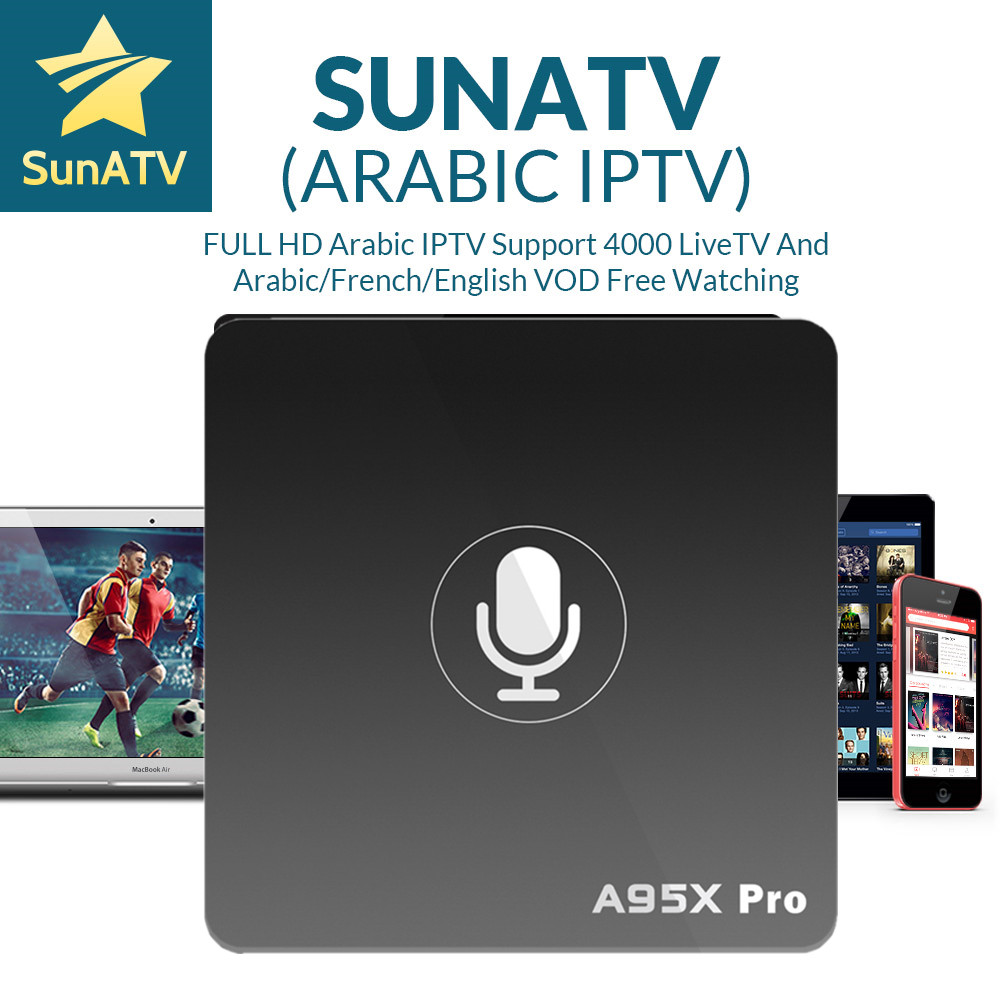 A95X Pro Voice Control 1 Year French IPTV box SUNATV/Netflix configured Arabic IPTV Europe iptv French Set top box smart box italy iptv a95x pro voice control with 1 year box 2g 16g italy iptv epg 4000 live vod configured europe albania ex yu xxx
