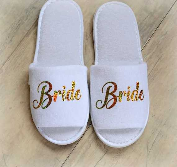 d83c571efa25 ... Personalised roles Wedding Slippers Bride Slippers Groom Slippers custom  Gold Glitter Print shoes Black slippers