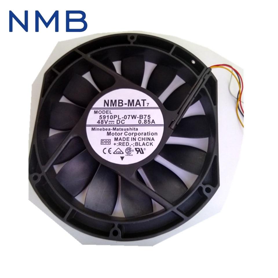 NMB New 17025 17cm fan 48V 0.85A 5910PL-07W-B75 low noiec fan 170*150*25mm new 17038 double ball 220v ac fan 5915pc 23t b30 35w for nmb mat7 170 170 38mm