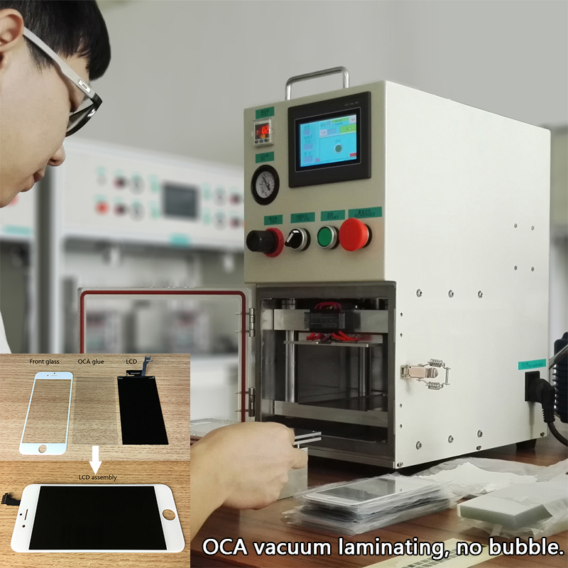 YMJ ОСА ламинатор для iphone для samsung edge ЖК холодного отжима ламинирования нет необходимости автоклав портативный ламинирования вакуумный