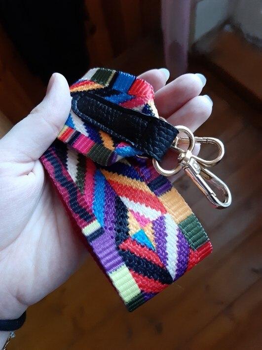 DAUNAVIA Bag Accessory Handles For Handbags Strap You Shoulder Raibow Rivets Handbags Cross Body Messenger Obag Price  Bag Strap photo review