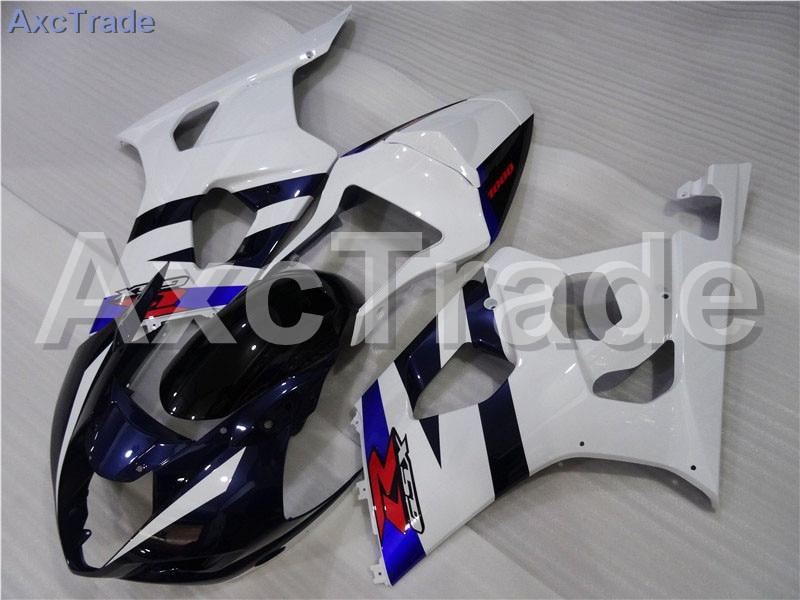 Motorcycle Fairings For Suzuki GSXR GSX-R 1000 GSXR1000 K3 2003 2004 03 04 ABS Plastic Injection Fairing Bodywork Kit White A286 injection mold 100% fit for suzuki gsxr1000 03 04 k3 silver black fairings set gsxr 1000 2003 2004 k4 yi119