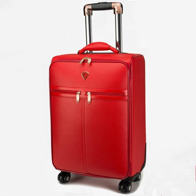 Wheels Enfant Valise Voyageur Y Bolsa Viaje Carry On Pu Leather Valiz Maleta Trolley Mala Viagem Luggage Suitcase 162024inch