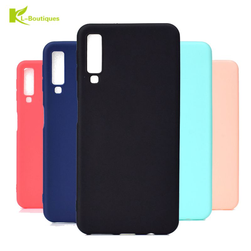 A7 2018 Soft Case on For Samsung Galaxy A7 2018 Candy Colors TPU Case For Fundas Samsung A7 2018 A750 Case Rubber Cover Coque