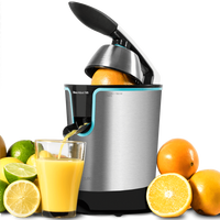 Cecotec Electric Orange Juicer Zitrus Adjust 160 Black Ideal for Extracting the Maximum Juices Healthy Easy to Use